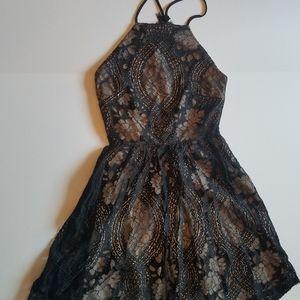 Francescas Black Lace Dress